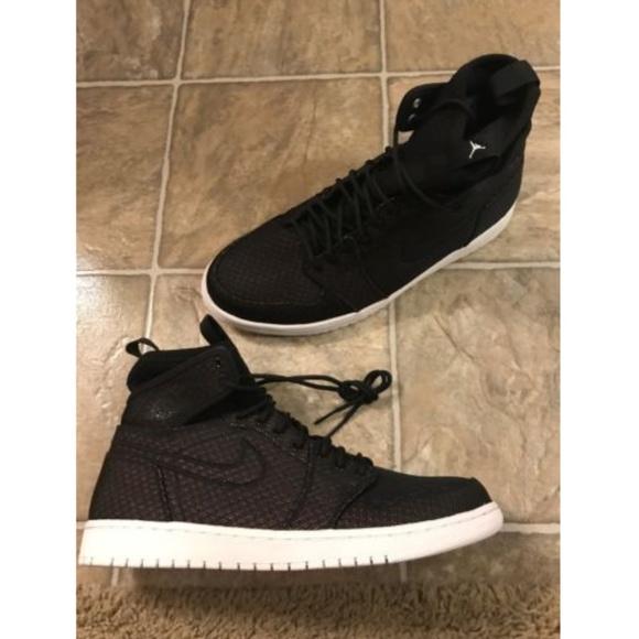 reputable site 654b9 22a5b Air Jordan 1 Retro Ultra High Shoes Black